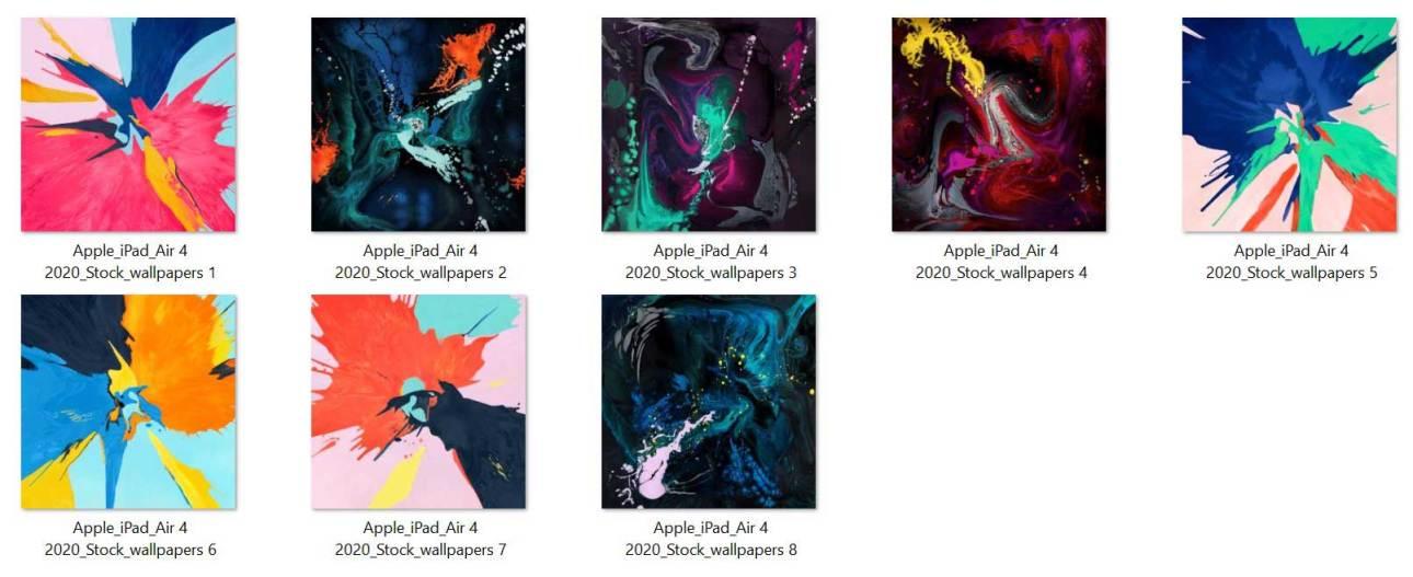Скачать обои Apple iPad Air 4 и iPad 2020 Stock Wallpapers