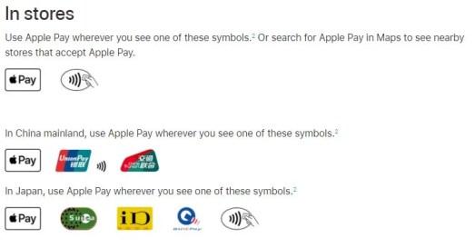 Apple Pay символы для оплаты