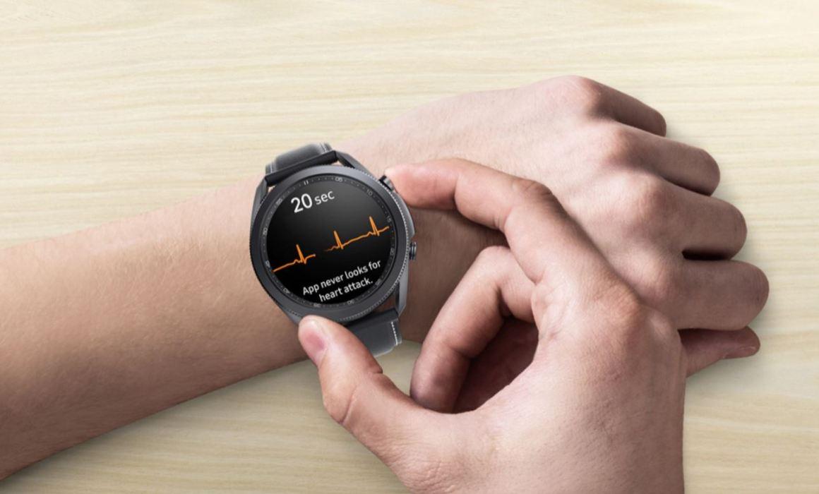 Galaxy Watch ЭКГ функция здоровья приложение