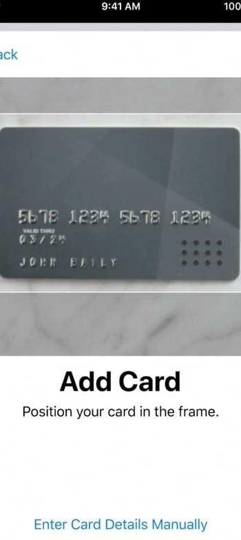 сканировать карту Apple Pay