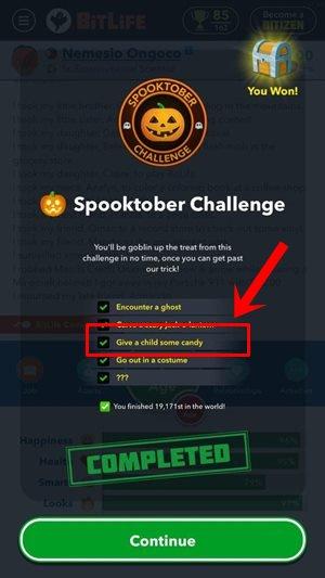 Spooktober-Challenge-şeker-bitlife