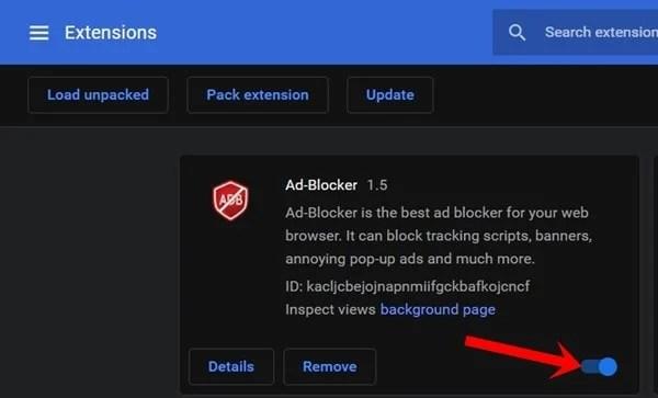 Chrome uzantısını devre dışı bırak youtube