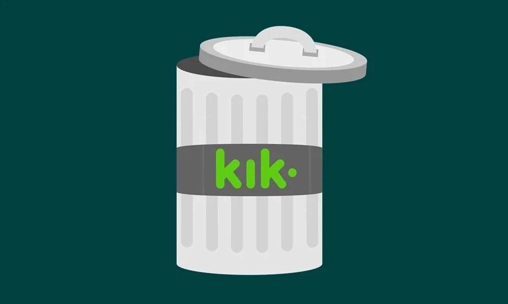 навсегда удалить учетную запись kik