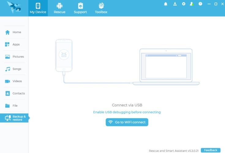Motorola Rescue and Smart Assistant Tool Kullanıcı Arayüzü