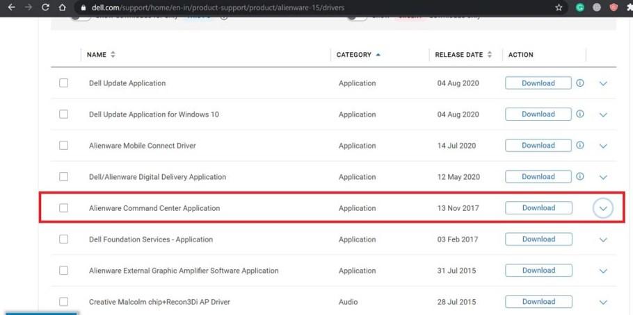 Alienware komuta merkezi uygulaması indirme