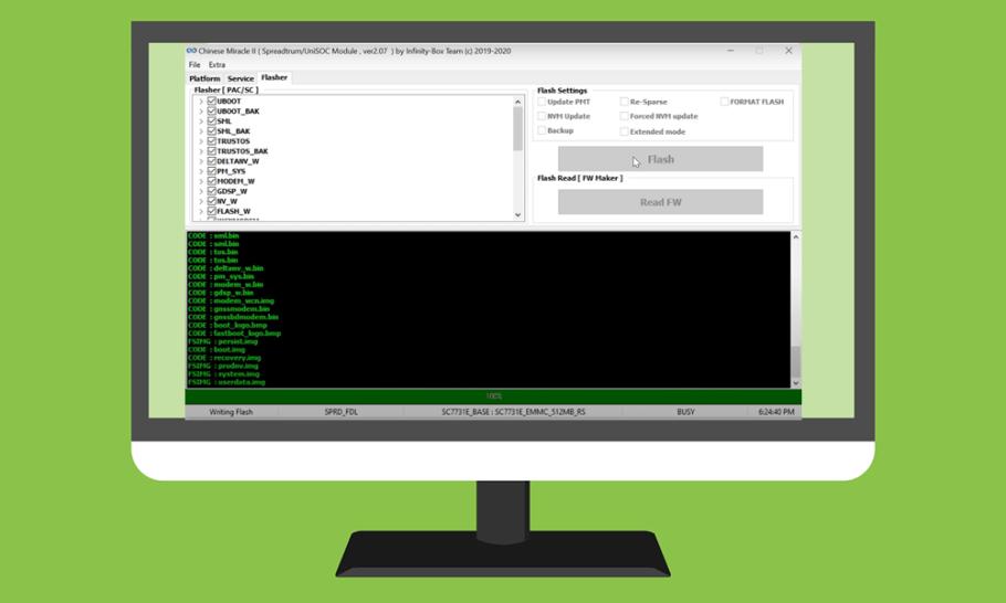 flash Spreadtrum Unisoc Firmware Infinity CM2SP2 aracı