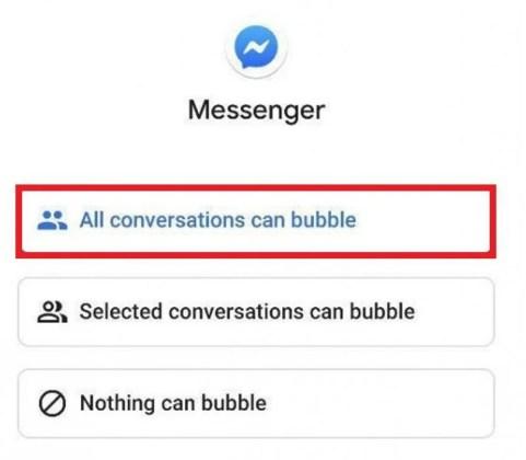 Как включить Facebook Messenger Bubble