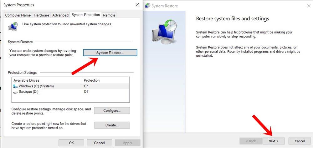 Восстановление системы Windows 10 в спящем режиме