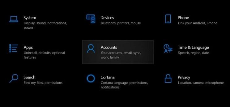 учетная запись Windows 10