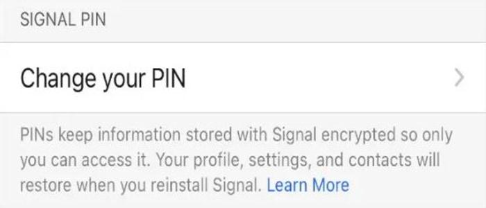 Как включить блокировку регистрации в Signal