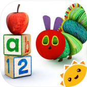 Hungry Caterpillar Play School is a great app for teaching shapes and colors to preschoolers!