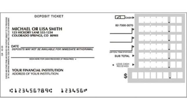 deposit slip template 10  Deposit Slip Templates - Excel Templates