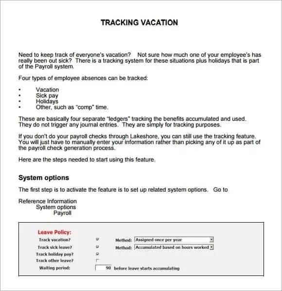 9  employee vacation tracker templates