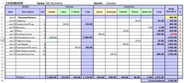 excel bookkeeping template 111