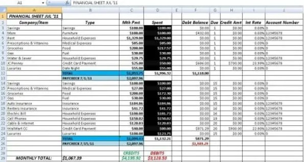 Excel Bookkeeping Template on Accounting Worksheet Example