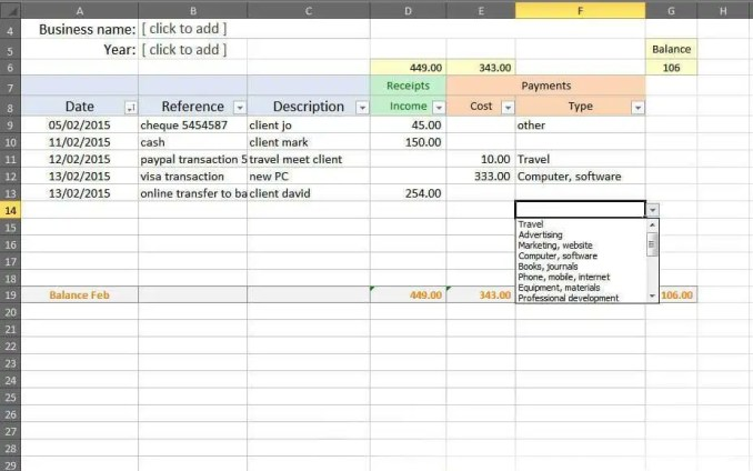 Best Business Accounts Excel Template Pictures Free Accounting