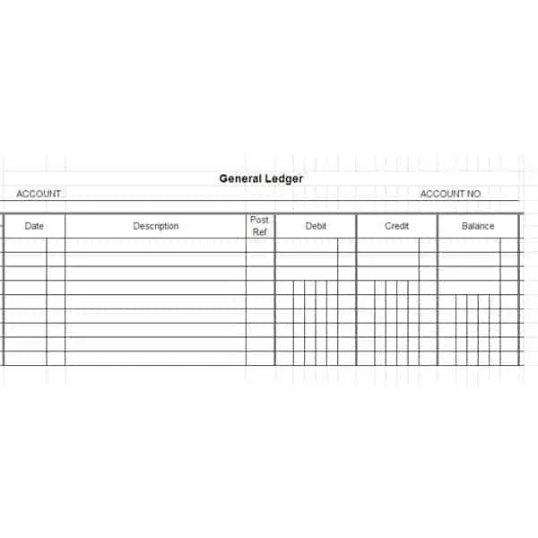 Amazing General Ledger Template 222 To General Ledger Form