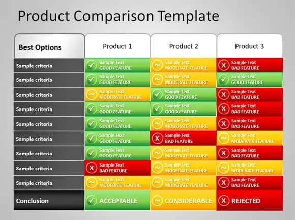 8 Product Comparison Templates Excel Excel Templates