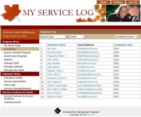 service log templaet 444