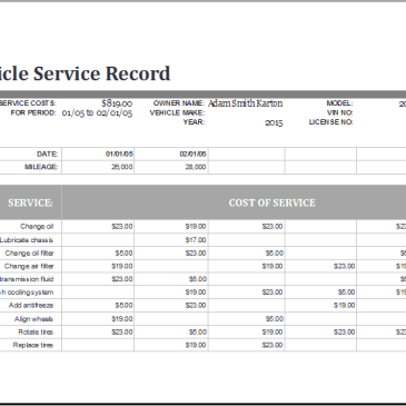 Community Service Log Template Archives - Excel Templates
