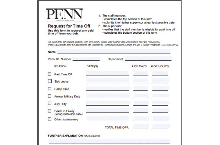 time off request form template 444