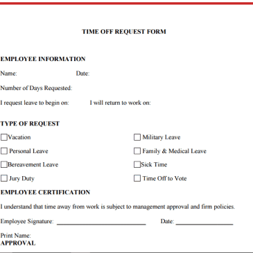 Sick Leave Request Form Template Archives - Excel Templates