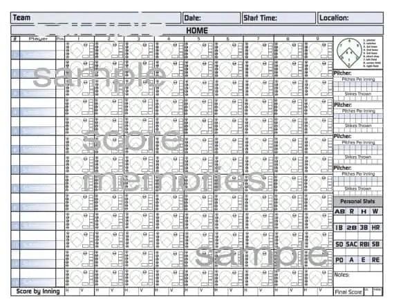 baseball scorecard 33