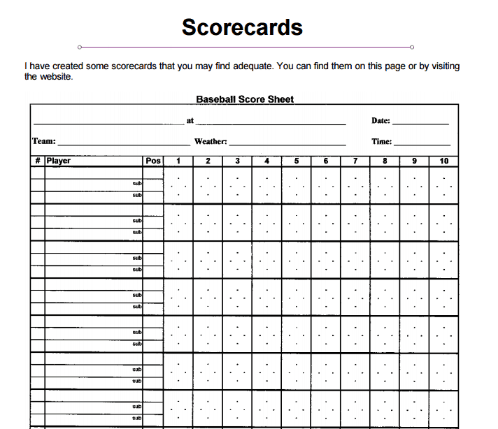 baseball scorecard sheet aildoc productoseb co