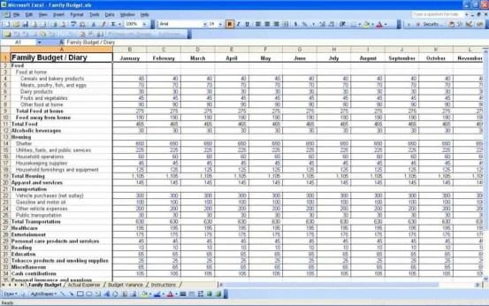 budget worksheet template 154