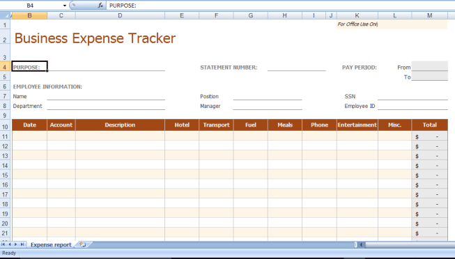 8 business expense tracker templates excel templates business expense tracker template cheaphphosting Gallery