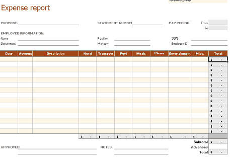 8 Business Expense Tracker Templates Excel Templates – Expense Templates