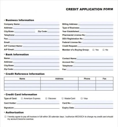 Consumer credit application form theminecraftserver best business credit application template free office depot business flashek Images