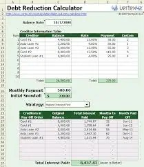 10+ Debt Calculator Excel Templates