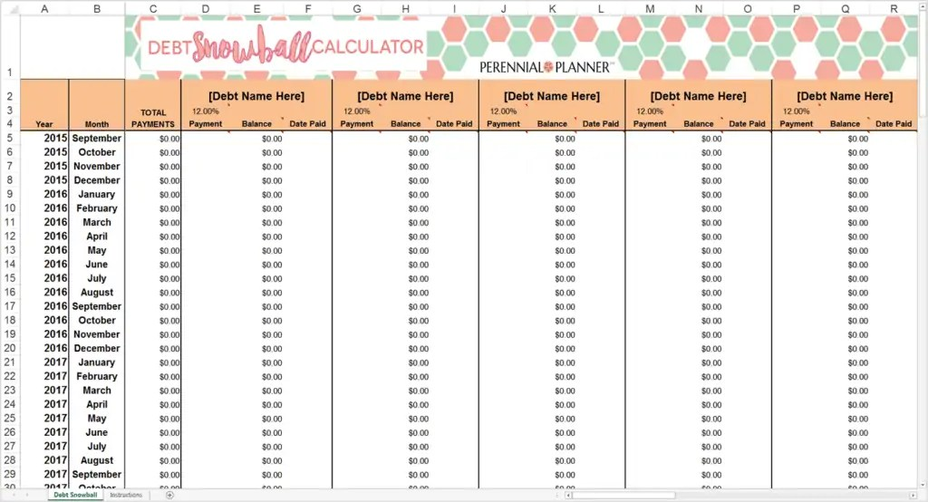 9+ Debt Snowball Excel Templates