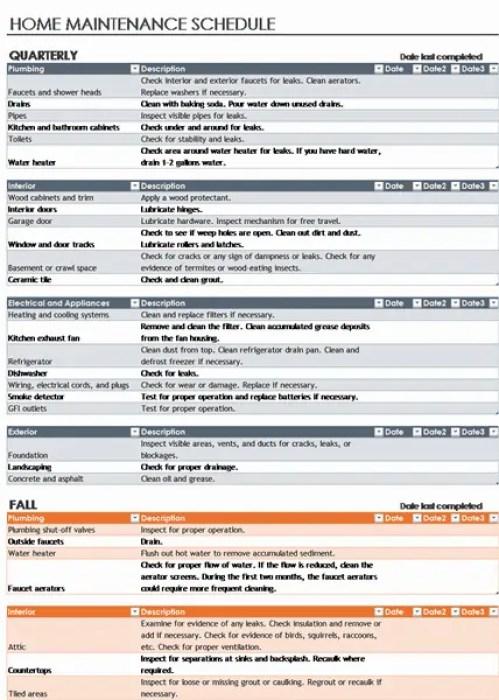 7 Facility Maintenance Checklist Templates Excel Templates