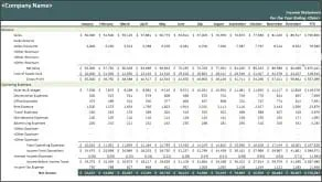 9 Financial Statement Templates Excel Templates