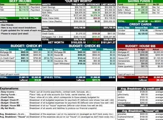 house hold budget spreadsheet template 222