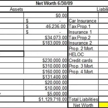 6 net worth statement templates
