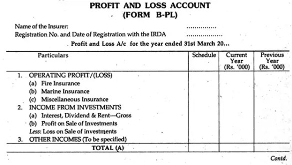 profit and loss account format 648510