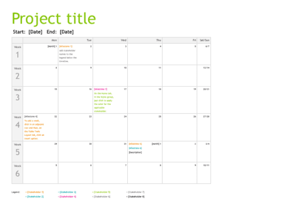 project timeline template 555