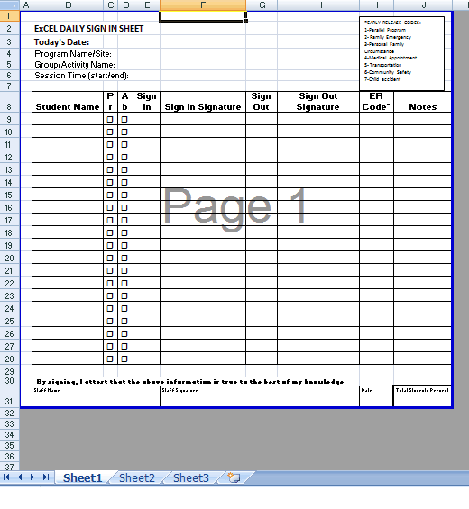 8 Sign In Sheet Templates Excel Templates – Sign in Sheet Templates