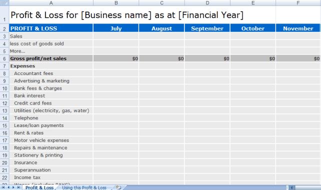 spreadsheet template 33
