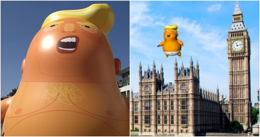 Giant Donald Trump Balloon in London