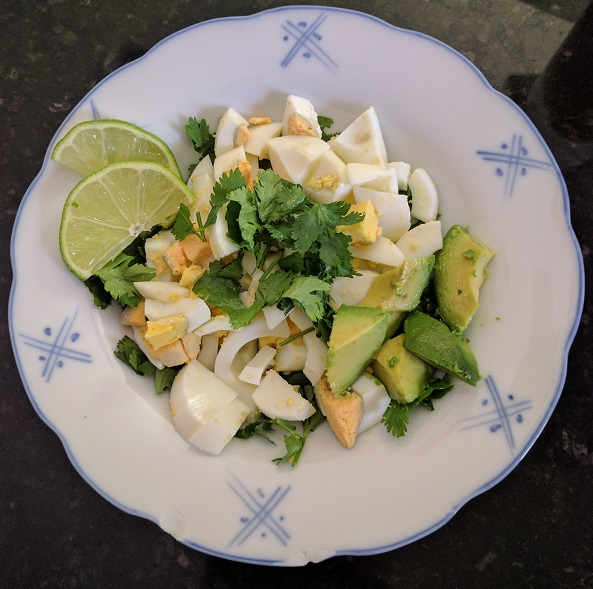 Fresh Cilantro Lime Breakfast Egg Salad