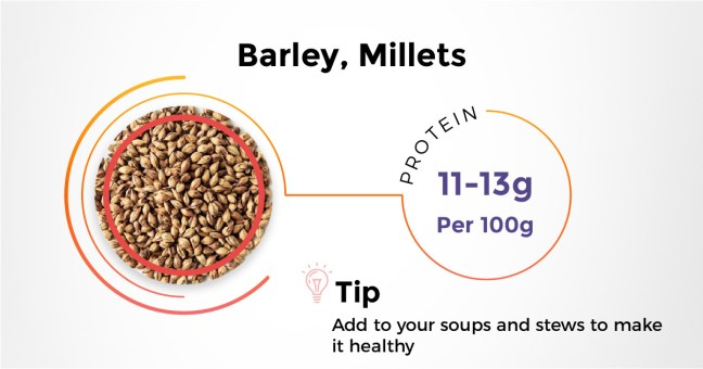Best Indian protein rich diet - Barley
