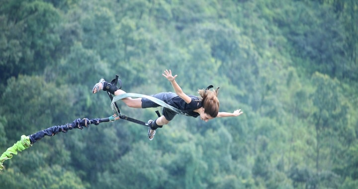 bungee jumping: new year resolution
