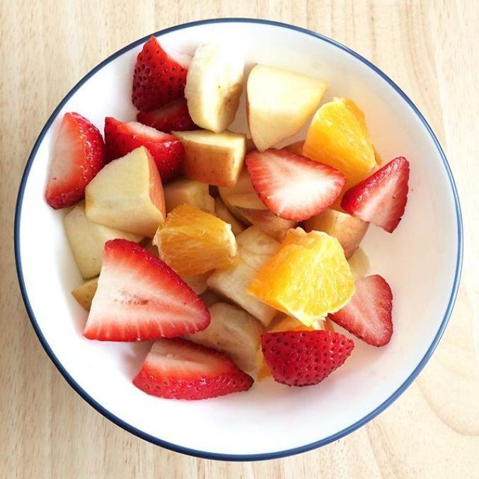 Bowl of tasty fruit