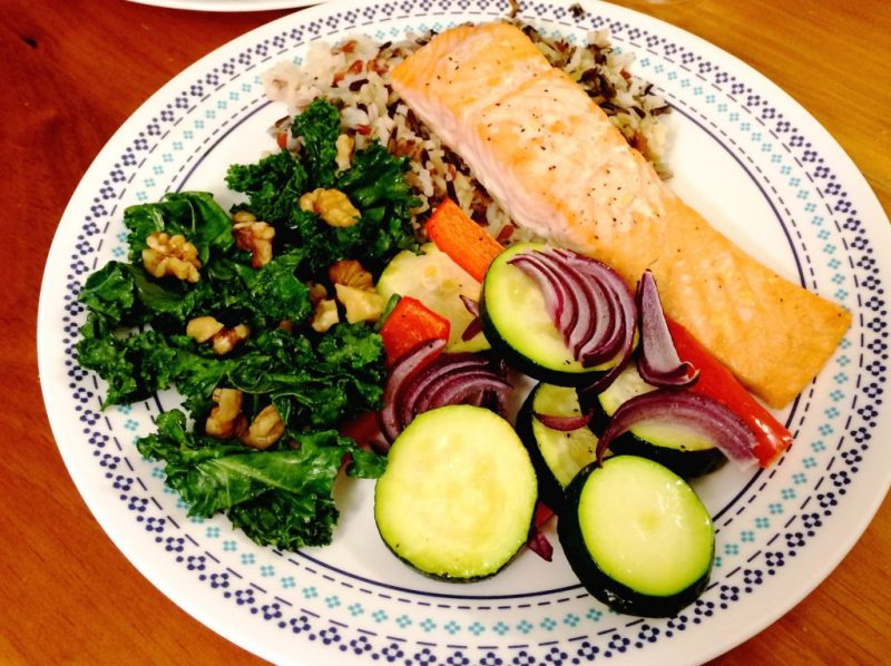 Healthy Salmon with Vegetables
