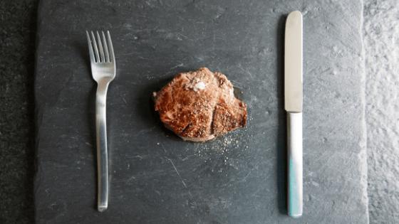 Steak dinner on keto diet
