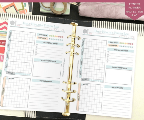 LittleChiquiPaperie Health and Fitness Planner